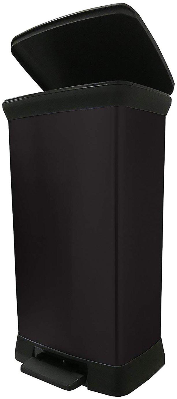 Curver 50 Litre Deco Pedal Bin - Black