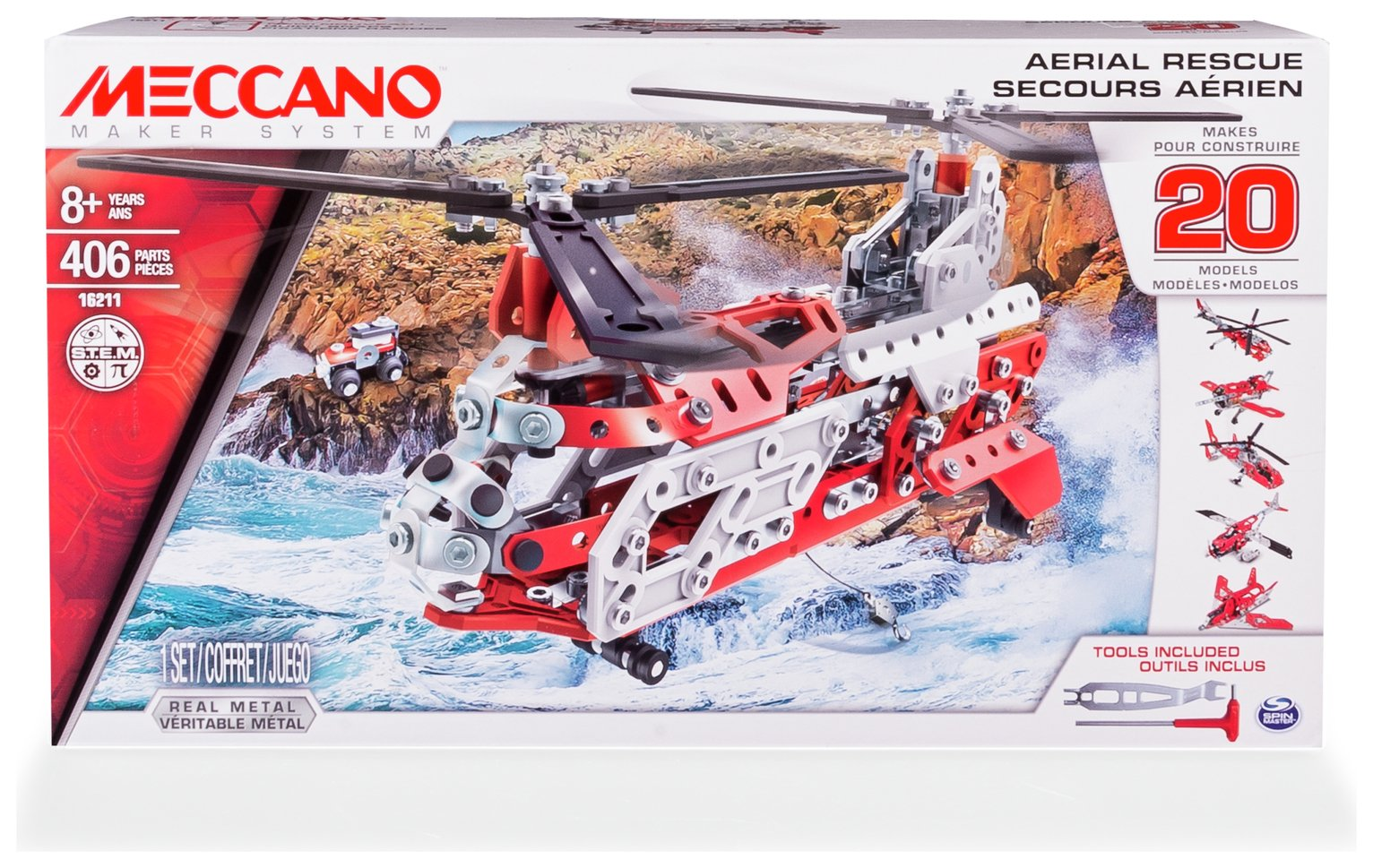 Meccanno 20 in 1 Model Set - Helicopter