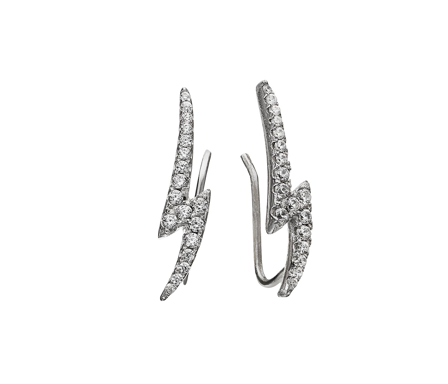 State of Mine Sterling Silver Bolt Climber Earrings review