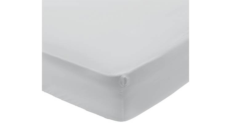 Argos Home 400TC Egyptian Cotton 35cm Fitted Sheet - Double