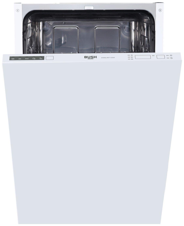 'Bush Dwslint125w Slimline Integrated Dishwasher - White