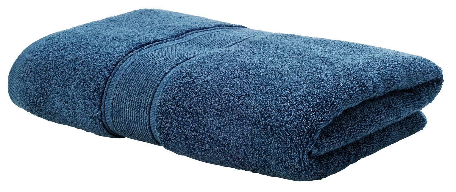 Argos Home Super Soft Bath Towel - Denim Blue