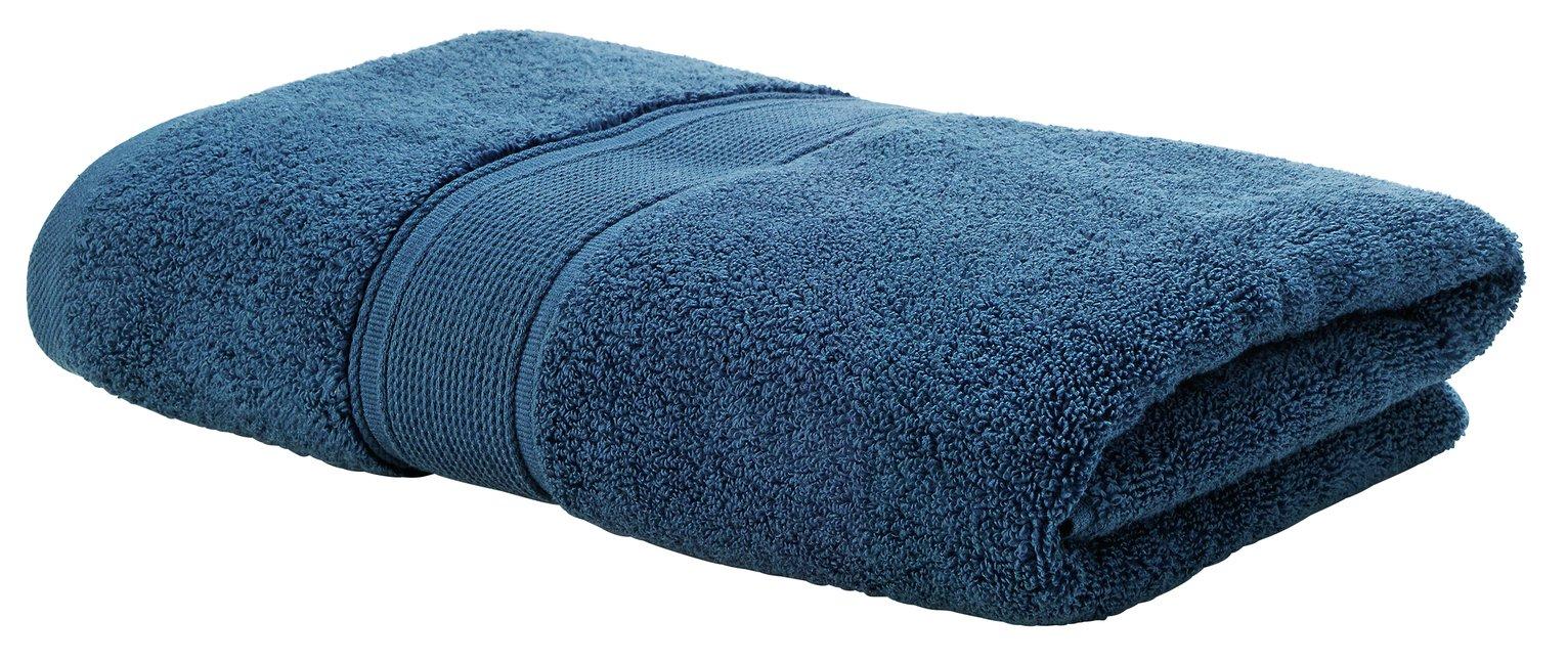 Argos Home Super Soft Bath Towel - Denim Blue