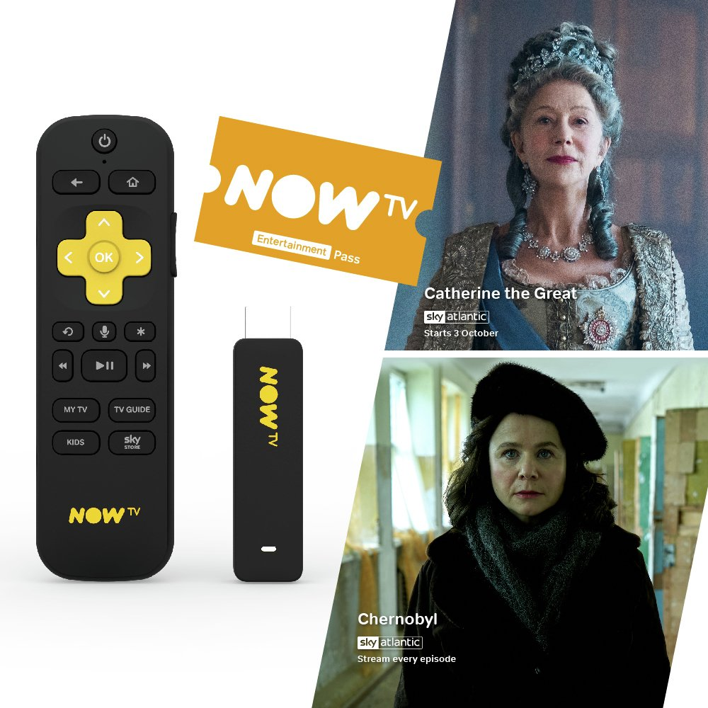 'Now Tv Smart Stick With 2 Month Entertainment Pass