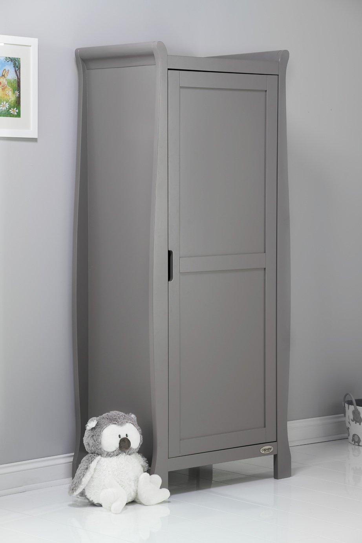 obaby stamford sleigh single wardrobe  taupe grey