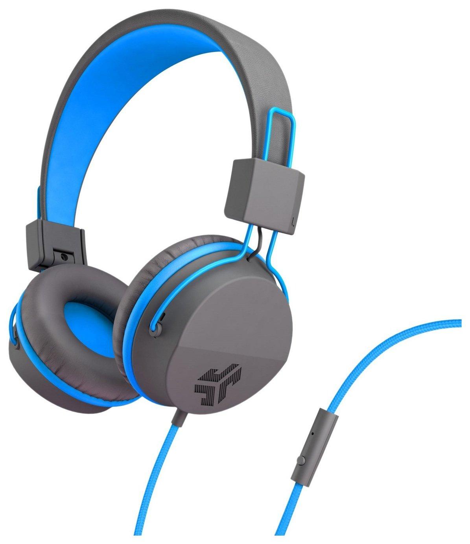 JLab Neon On-Ear Headphones - Grey/ Blue