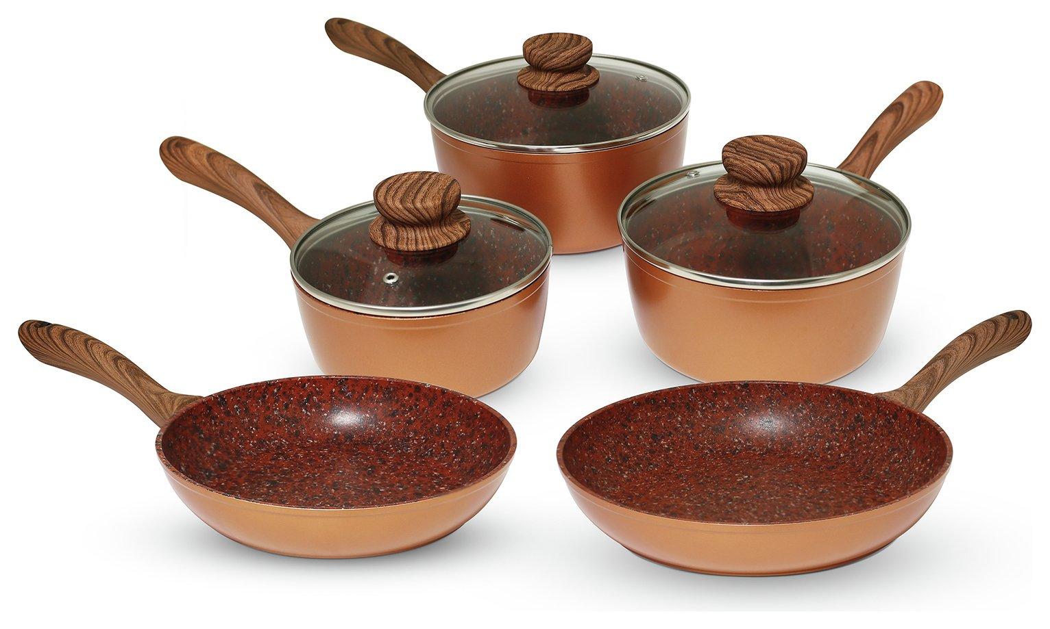 Sale On Jml Copper Stone Pan 5 Piece Pan Set Jml Now
