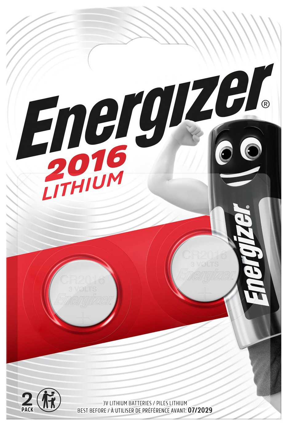 Energizer CR2016 Batteries - 2 Pack