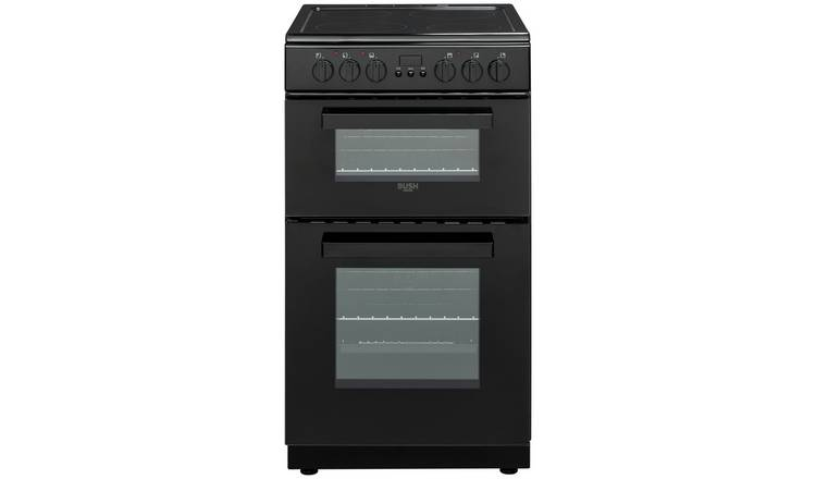 Bush DHBEDC50B 50cm Double Oven Electric Cooker - Black