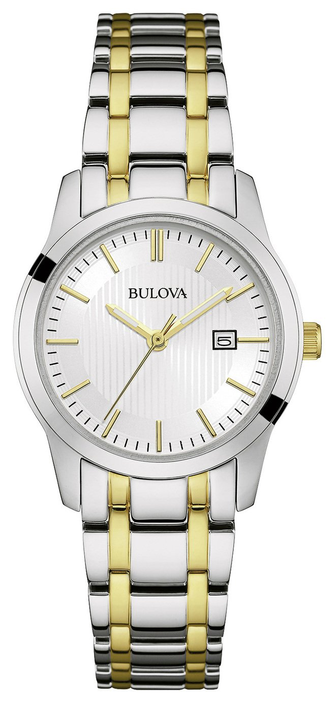 Bulova Ladies' Two Tone Stainless Steel Bracelet Watch