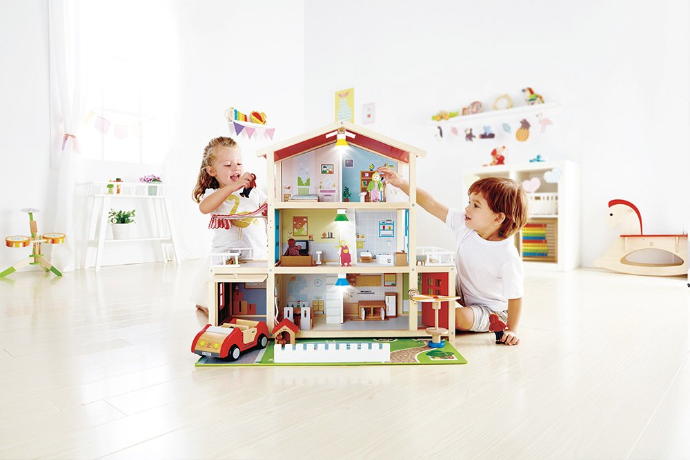 Image of Hape Doll Family Mansion