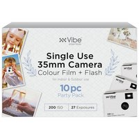 VIBE Single Use Camera - 27 Shots with Flash 10PC Party Pack
