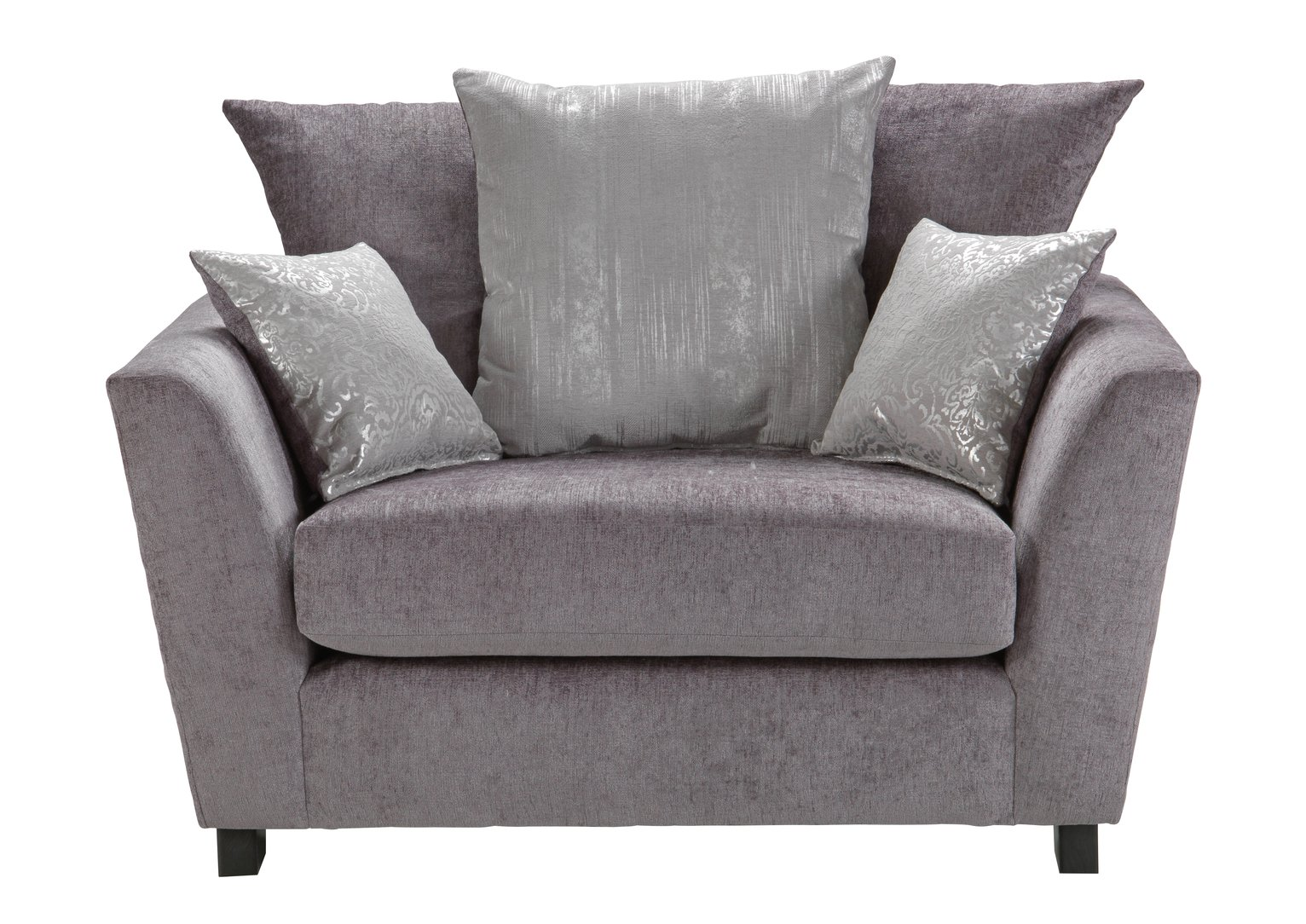Argos Home Vivienne Fabric Cuddle Chair - Silver