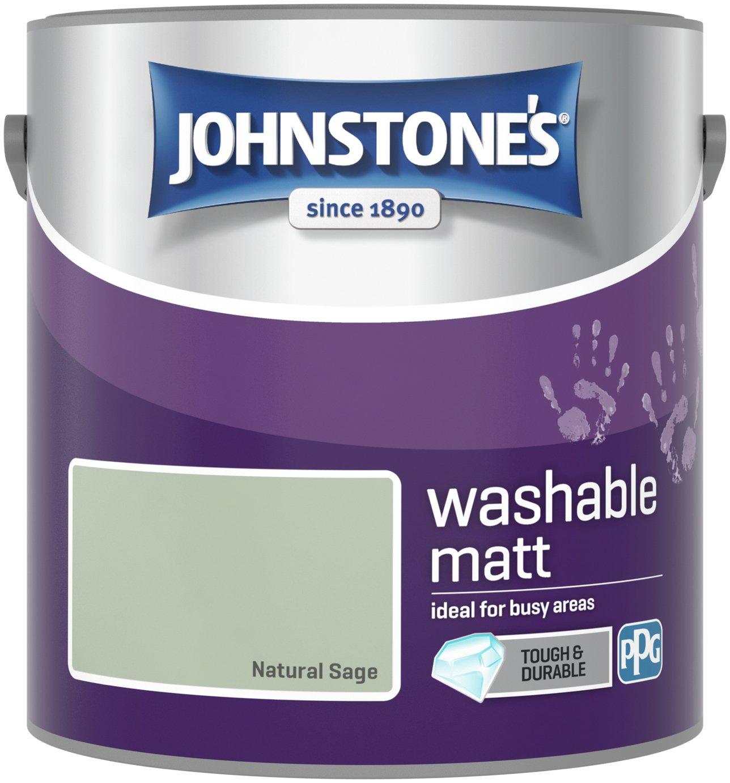 Johnstone's Washable Matt Emulsion Paint 2.5 Litre - Sage