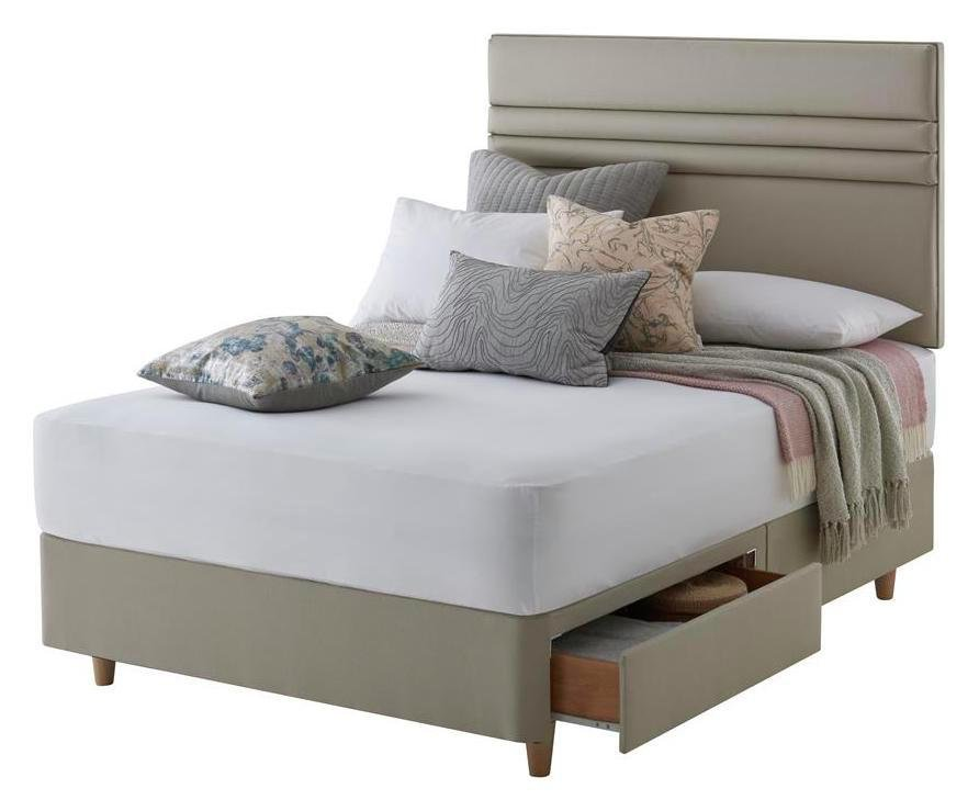 Silentnight Roma Sand Divan Bed - Superking