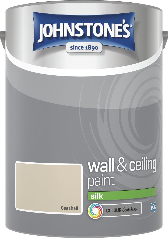 Johnstone's Silk Emulsion Paint 5 Litre - Seashell
