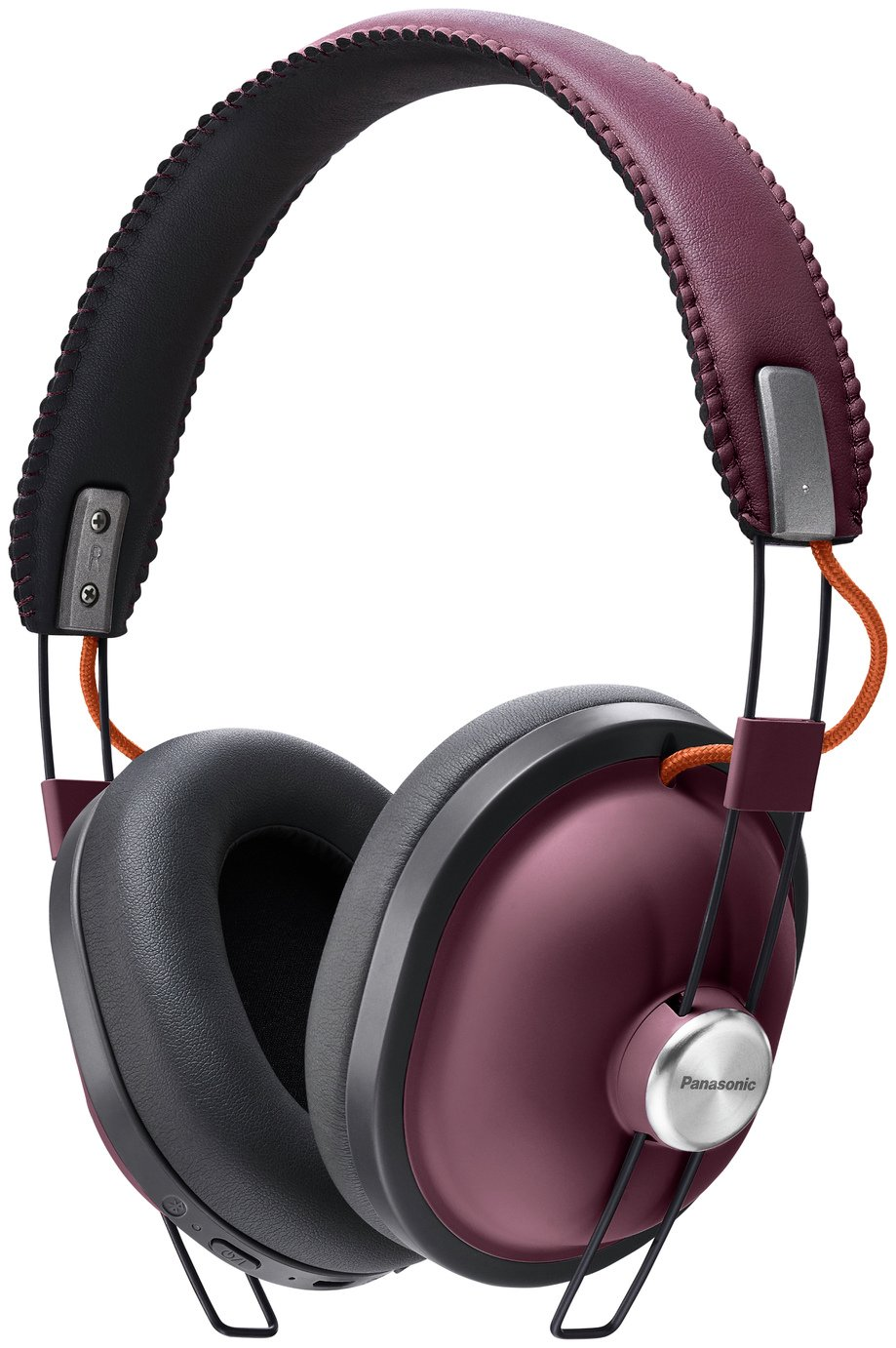 Panasonic RP-HTX80BE Wireless Over-Ear Headphones - Burgundy
