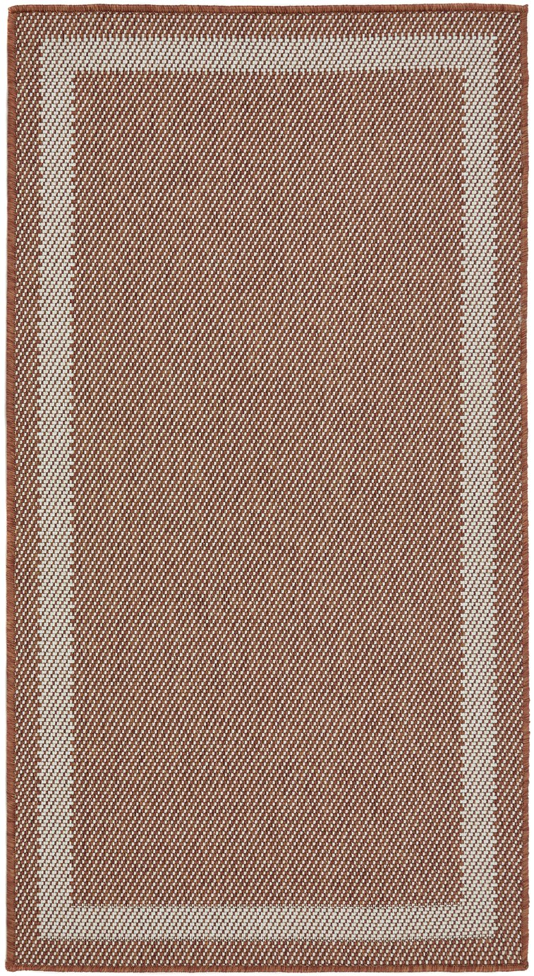 Origins Lusso Border Outdoor Rug - 1790x120cm - Terracotta