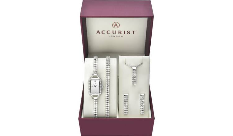 7f447be2a Buy Accurist Ladies' Stone Set Watch and Jewellery Gift Set | Womens ...