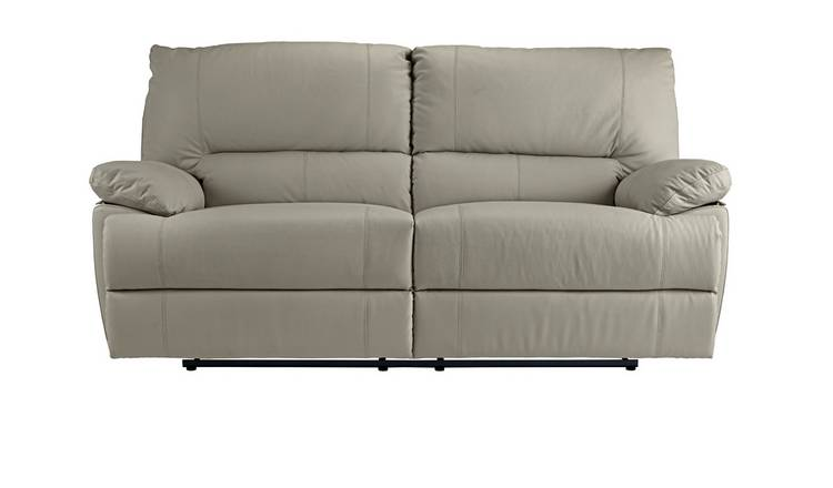 Buy Argos Home Devlin 3 Seater Leather Mix Recliner Sofa