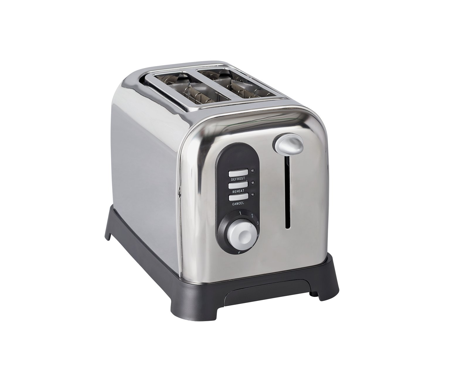 Cookworks 2 Slice Toaster - Polished Stainless Steel