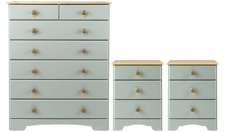 Argos Home Nordic 2 Bedsides & 5+2 Drawer Chest Set - Grey