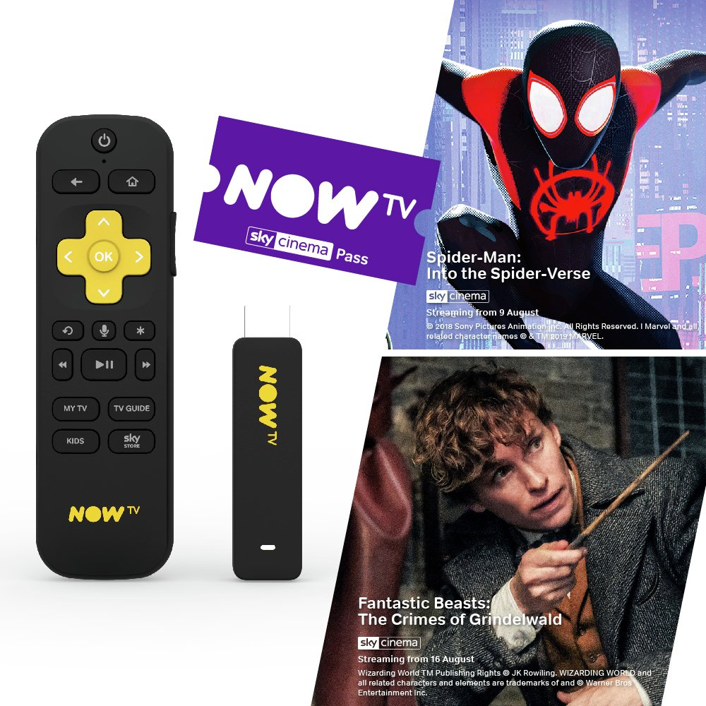 'Now Tv Smart Stick With 1 Month Sky Cinema Pass