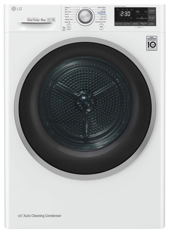 LG FDJ608W 8KG Heat Pump Tumble Dryer - White