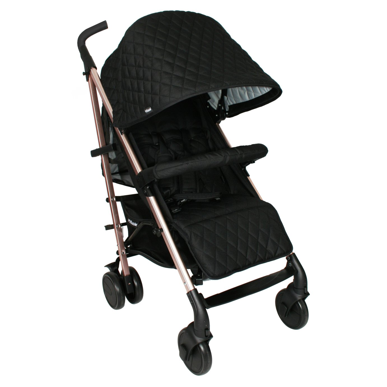 My Babiie Billie MB51 Rose Gold Black Quilted Stroller