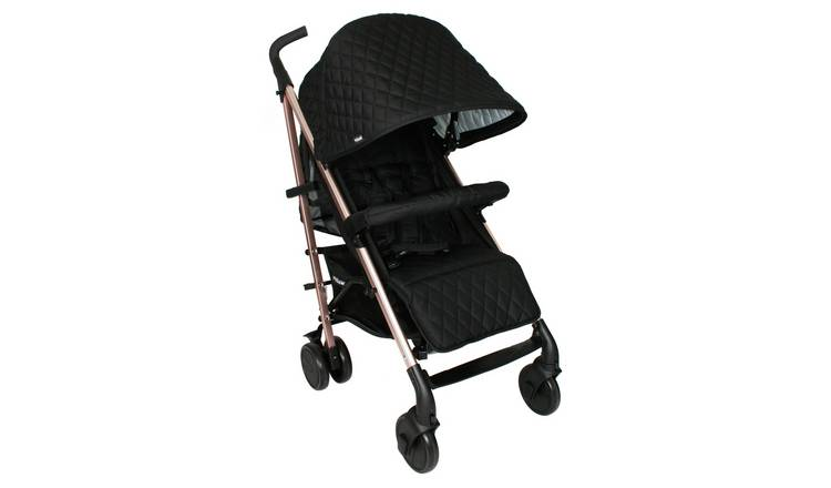 My Babiie Billie MB51 Rose Gold Black Quilted Stroller
