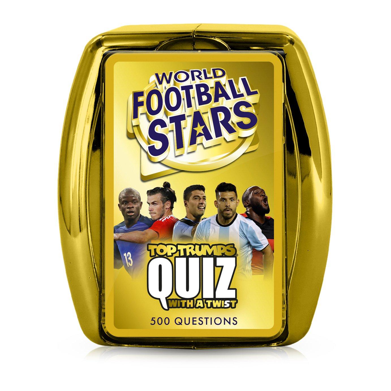 World Football Stars Top Trumps Quiz Card Game