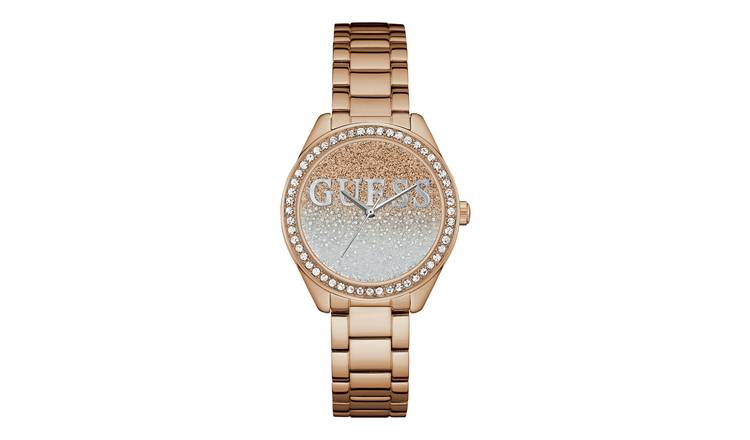Guess Ladies Rose Gold Colour Stainless Steel Bracelet Watch