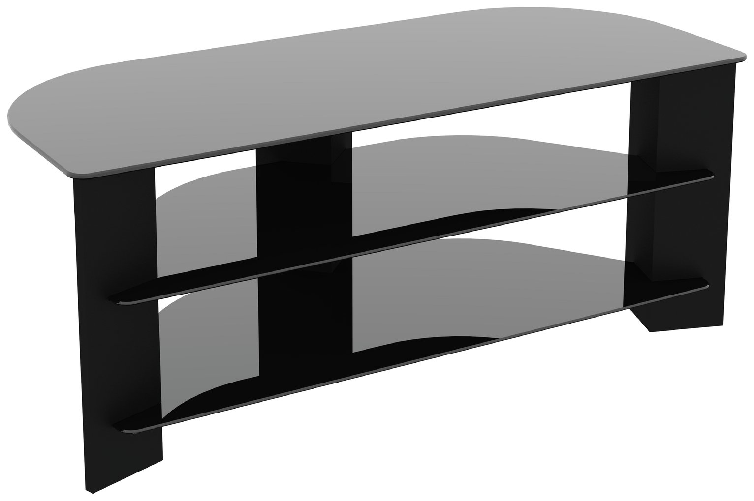 AVF Wood Effect Up to 55 Inch TV Corner Stand - Black