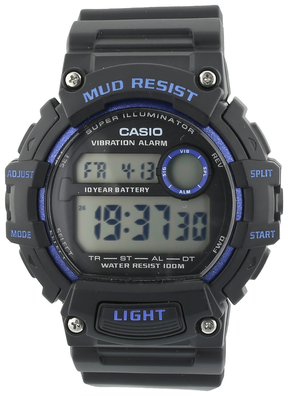Casio Men's Black Resin Strap Mud Resist LCD Watch