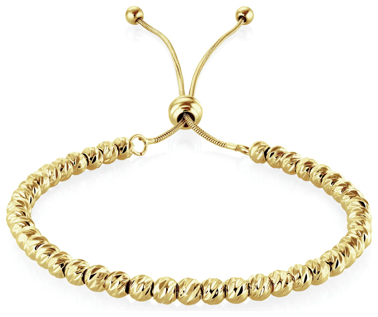 Buckley Gold Colour Soho Diamond Cut Bracelet