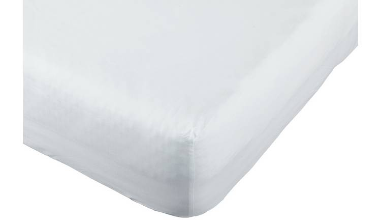 Argos Home Easycare 100% Cotton 35cm Fitted Sheet - Double