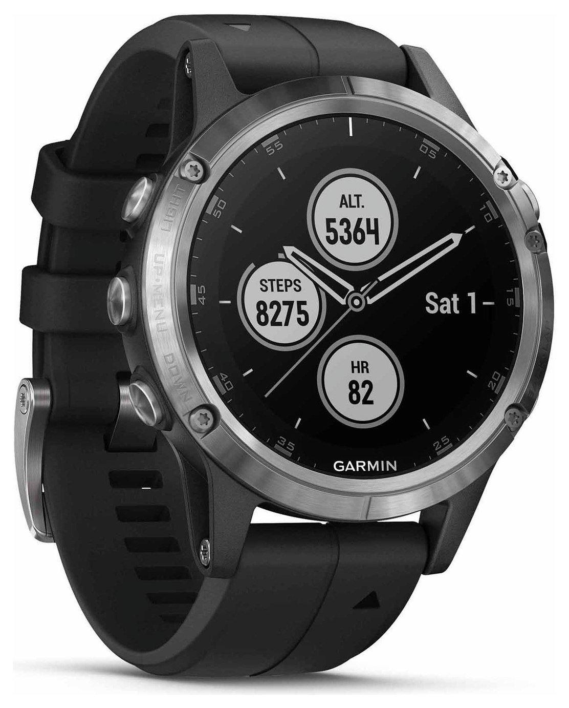 Garmin Fenix 5 Plus GPS Smart Watch - Silver & Black