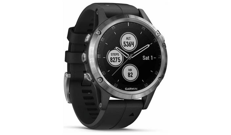 Buy Garmin Fenix 5 Plus Gps Smart Watch Silver Black Fitness