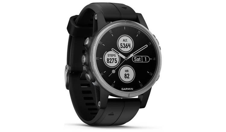 Garmin Fenix 5S Plus GPS Smart Watch - Silver & Black