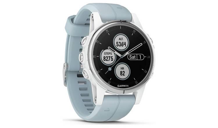 Buy Garmin Fenix 5S Plus GPS Smart Watch - White & Teal | Fitness and  activity trackers | Argos