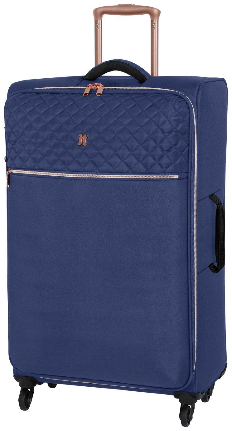 it Luggage Large Expandable 4 Wheel Soft Suitcase - Blue