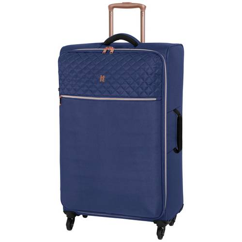 0073014a6 Buy IT Luggage Large Expandable 4 Wheel Suitcase - Navy | Cabin ...