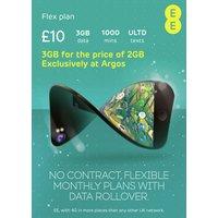 EE Flex 3GB Pay As You Go 30 Day Plan SIM Card