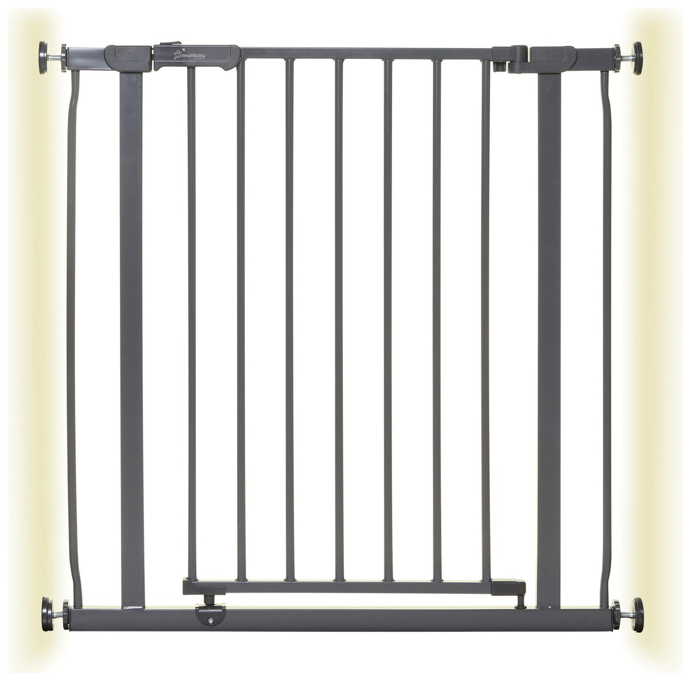 Dreambaby Ava Pressure Fit Safety Gate - Grey (75-82cm)