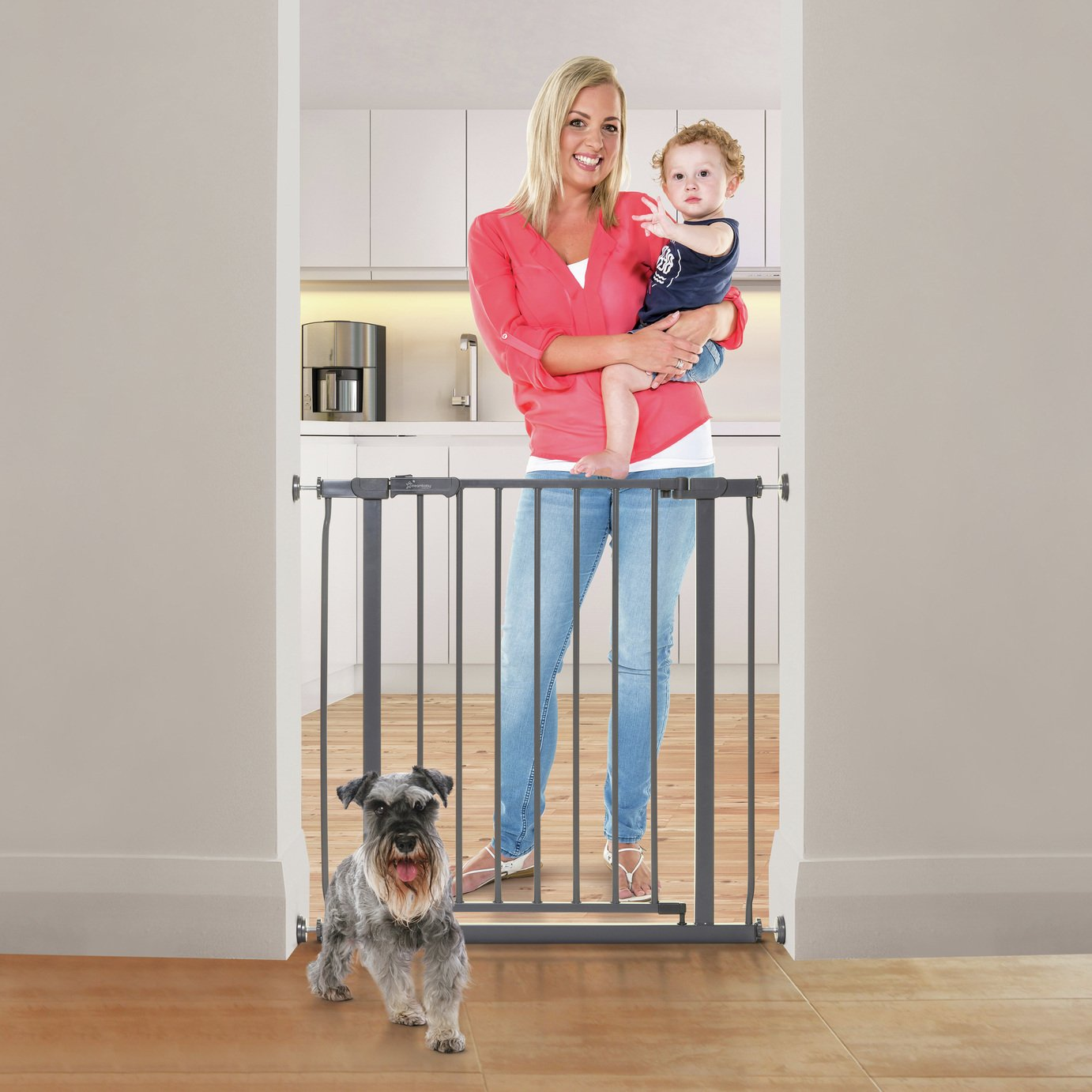 Dreambaby Ava Safety Gate - Charcoal (75-81cm) Pressure Fit
