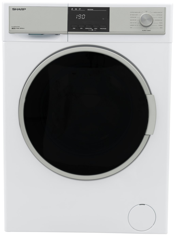 Sharp ES-HDB9647W0 9/6KG 1400 Spin Washer Dryer - White