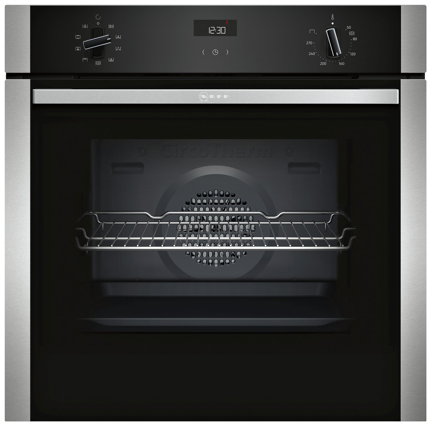 Neff B1ACE4HN0B 59.4cm Single Oven Electric Cooker - S/Steel