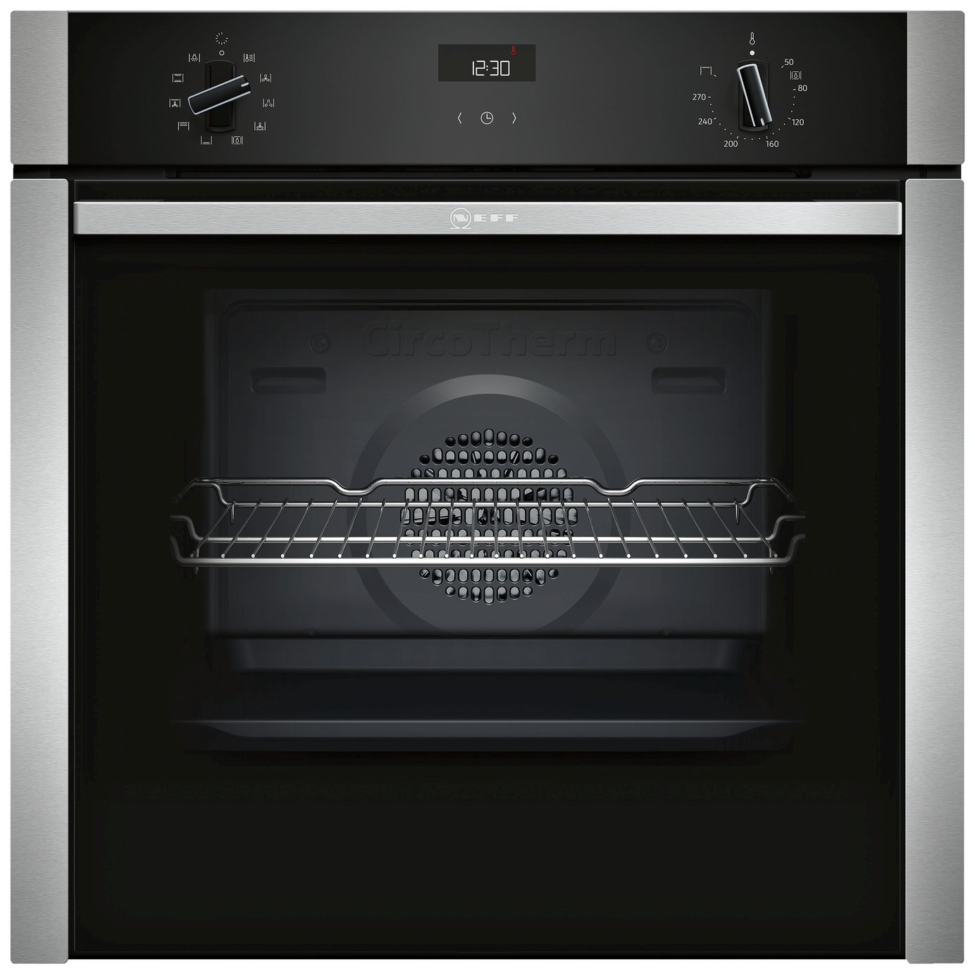 Neff B3ACE4HN0B 59.4cm Single Oven Electric Cooker - S/Steel