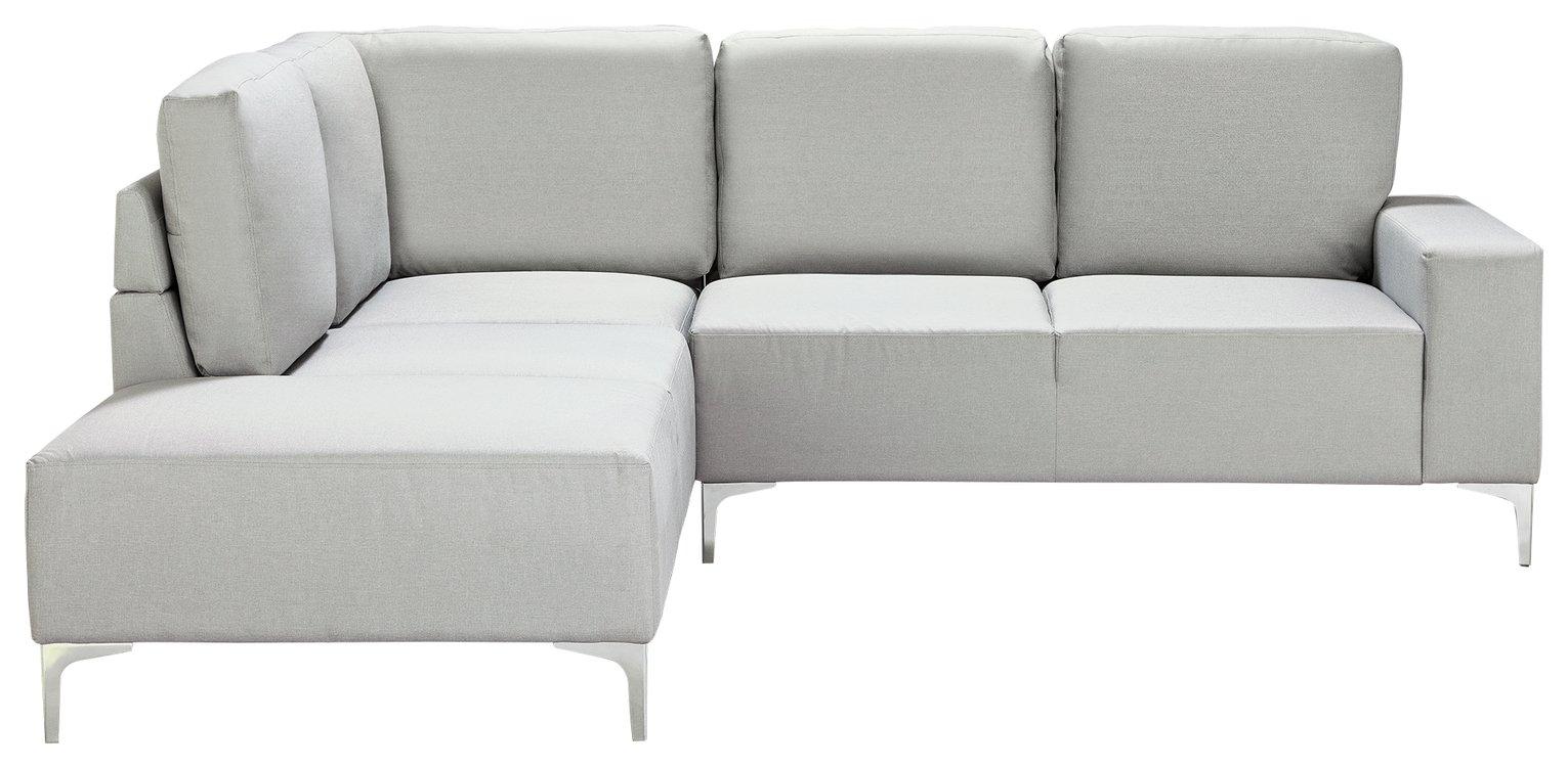 Argos Home Hale Left Corner Fabric Sofa - Light Grey