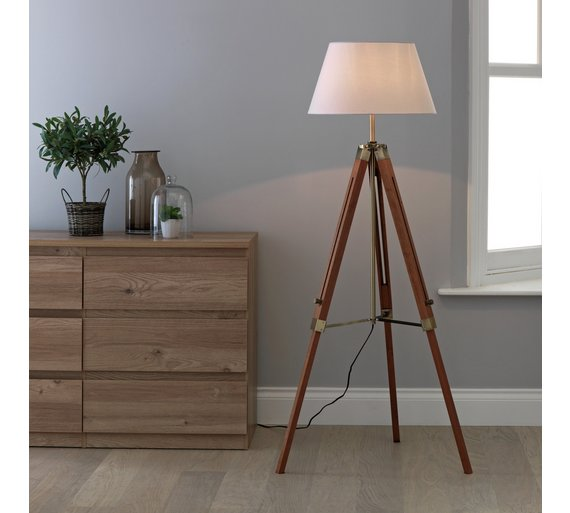 Buy Argos Home Colonial Tripod Floor Lamp Antique Brass Wood